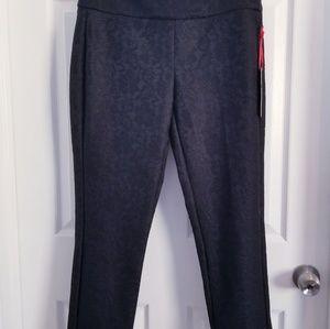 NWT   ELLE   Black Lace pants   Size 6